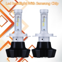 2 PCS Car Headlights With Samsung Chip 12 24V Car Head Lamp Lights 12000LM Head Bulbs