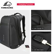 15/17 Inch Backpack Men Women USB Charging Laptop Bag for Teenager Large Casual Shoulder Bagpack Travel Mini Back Packs Kingsons