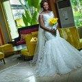 Новый стиль свежий вид для топ продаж русалка свадебное платье без бретелек кружева аппликация свадебное платье 2017