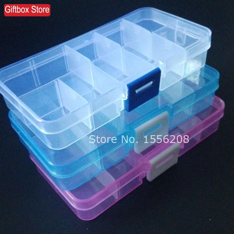 DIY detachable transparent plastic box organizer to receive beads