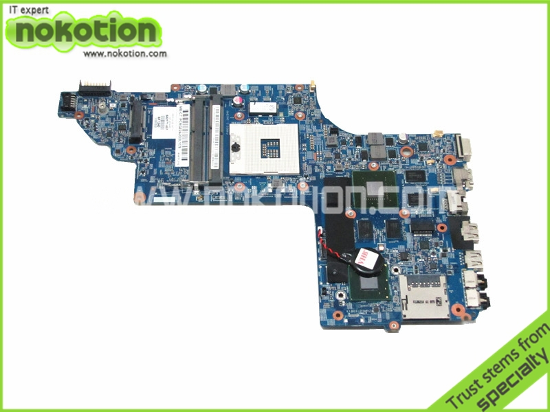 NOKOTION Laptop motherboard For Hp Pavilion DV6-7000 Intel DDR3 NVDIA GEFORCE 630M 2GB GRAPHICS  682171-001  48.4ST10.021  wholesale laptop motherboard 682171 001 for hp envy dv6 dv6 7000 630m 2g notebook pc systemboard 682171 501 90 days warranty