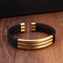 hot deal buy unique 3 layers charm stainless steel bracelets bangles men women jewelry high quality sporty male open cuff bangles