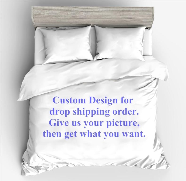 Juego de cama personalizado doble reina rey edredón conjunto ropa de cama para el envío directo (sin relleno de sábanas)