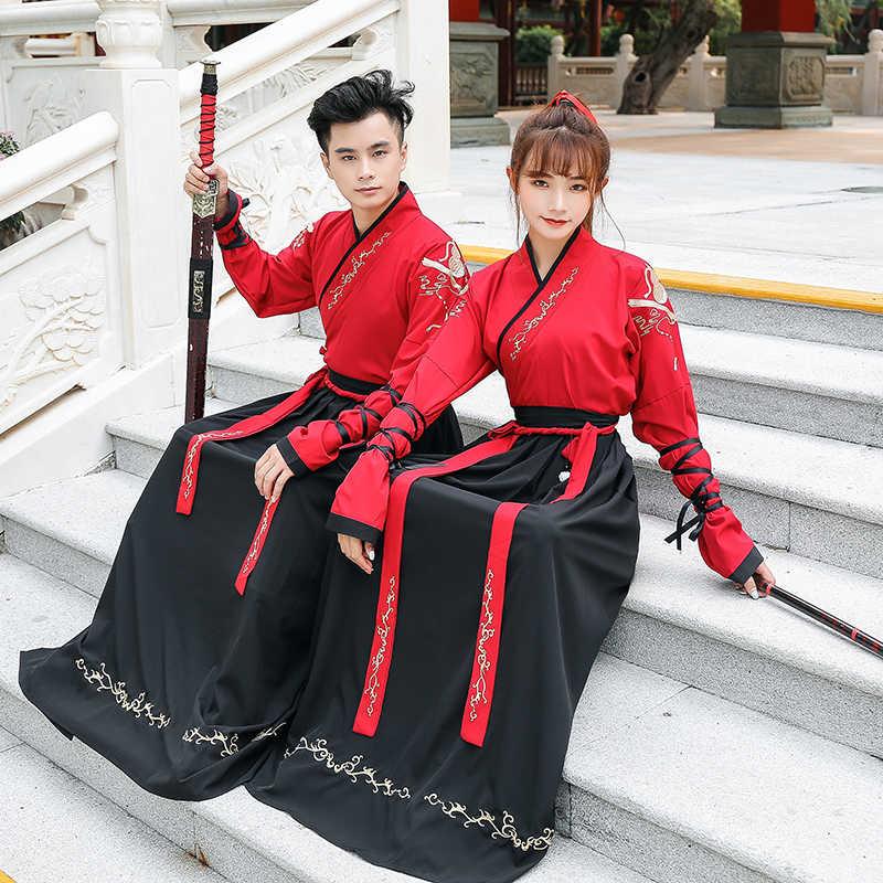 Костюм для китайского традиционного танца костюм женщин мужчин фехтовальщик