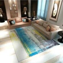 Современный простой скандинавский домашний декор ковер журнальный столик для гостиной ковры противоскользящие фланелевые большие коврики с абстрактным принтом