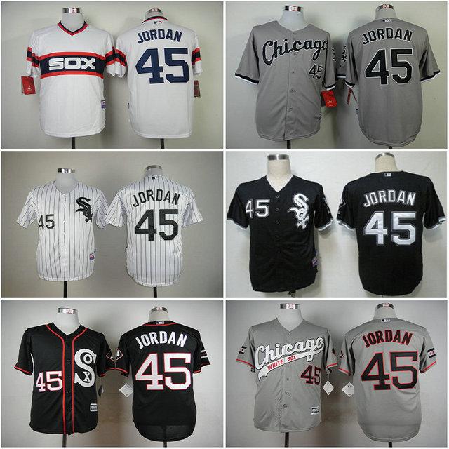 b63331549ef926 Chicago White Sox 45 Michael Jordan Gray Black White Men s Stitched  Baseball Jersey Cheap Size S-XXXL MLB Jerseys