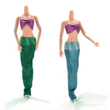 2 Pcs/set Fashion Handmade Dolls Party Suits for Ariel Princess Dresses For s Mermaid Dolls with Tail(China)
