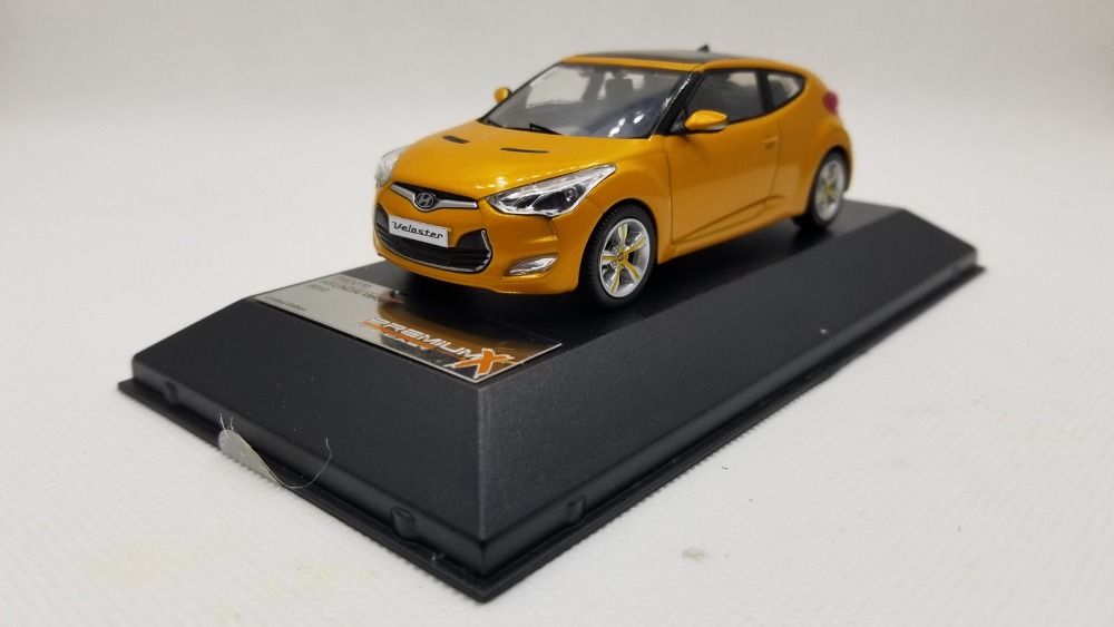 1:43 Diecast Model for Hyundai Veloster 2012 Orange Alloy Toy Car Miniature Collection Gifts 1 43 diecast model for mitsubishi eclipse spyder blue alloy toy car miniature collection gifts