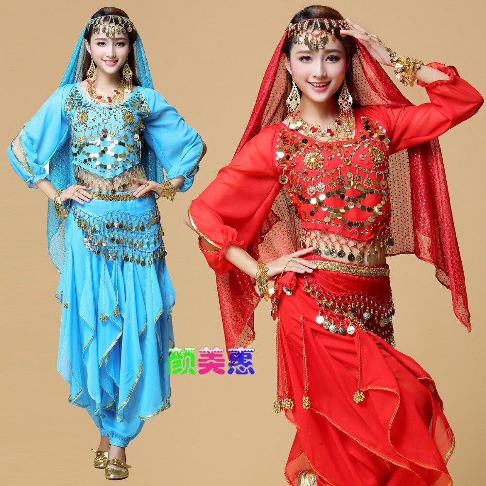 2017 New Lady magdansdräkt Bollywood kostym indisk klänning - Nya föremål