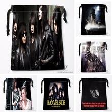 Custom Black Veil Brides Drawstring Bags Travel Storage Mini Pouch Swim Hiking Toy Bag Size 18x22cm#0412-03-05
