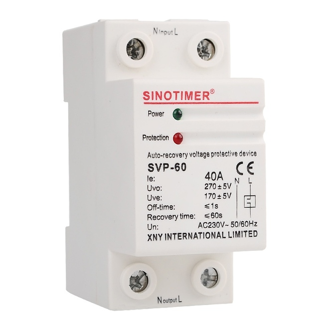 230v ac 40a din rail automatic recovery reconnect over under voltage rh aliexpress com