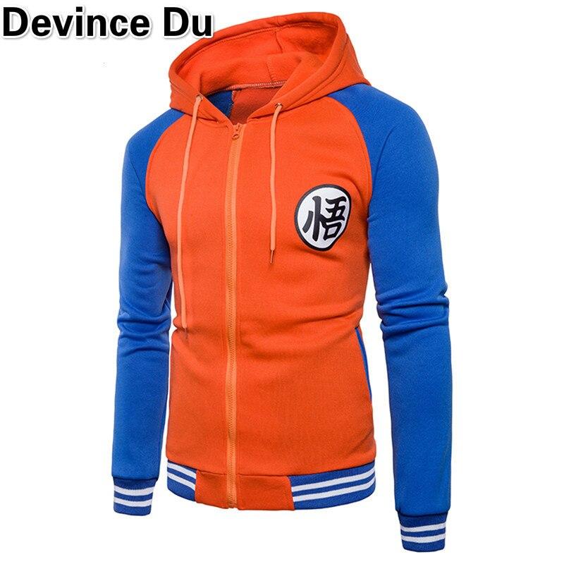 4f04439aa1de8 Bluzy Męskie 2018 Jesień Hoody Mężczyźni Dragon Ball Płaszcz Dorywczo Mężczyzna  Kurtka Moleton Masculino Moda Boy bluzy Bluza M-3XL
