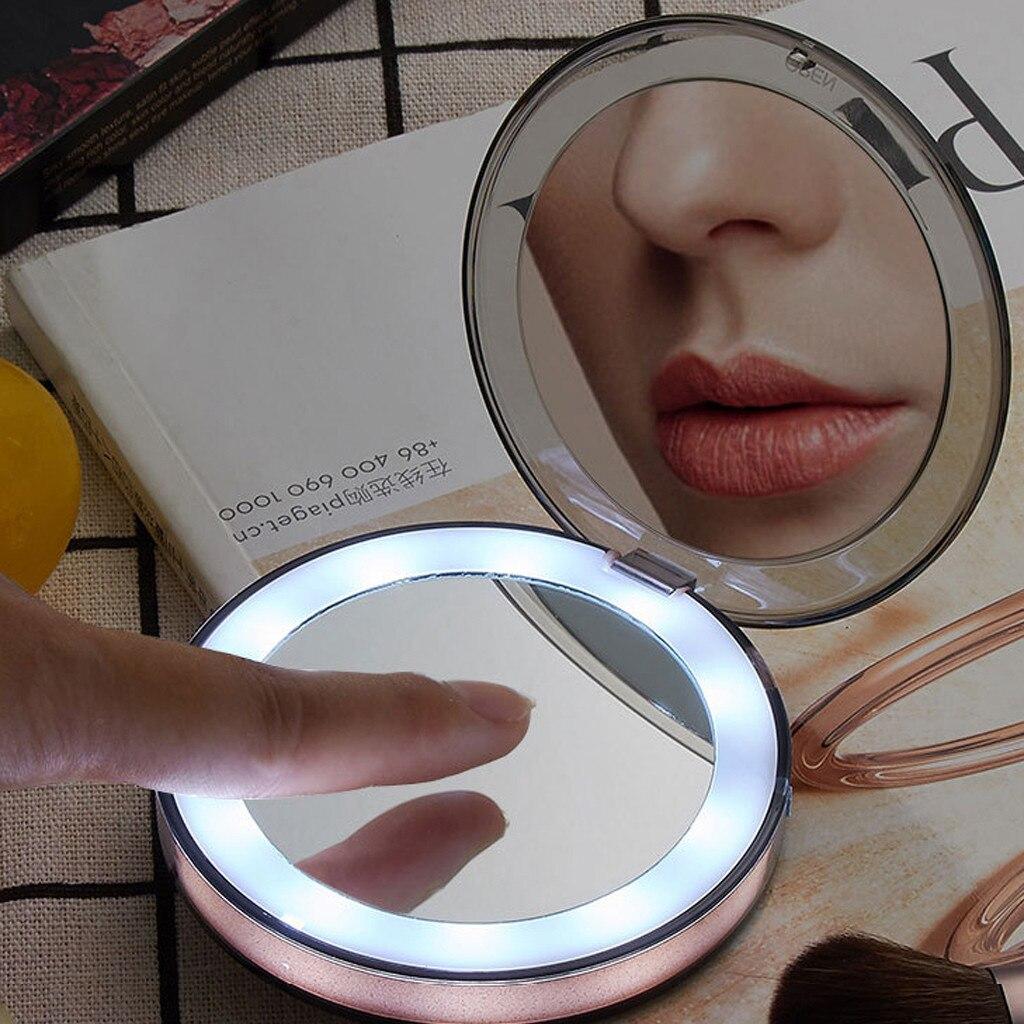 Gutherzig Desktop-make-up Spiegel Kompakte Spiegel Mini Make-up Spiegel Vergrößern Hand Falten Tragbare Make-up Spiegel May31