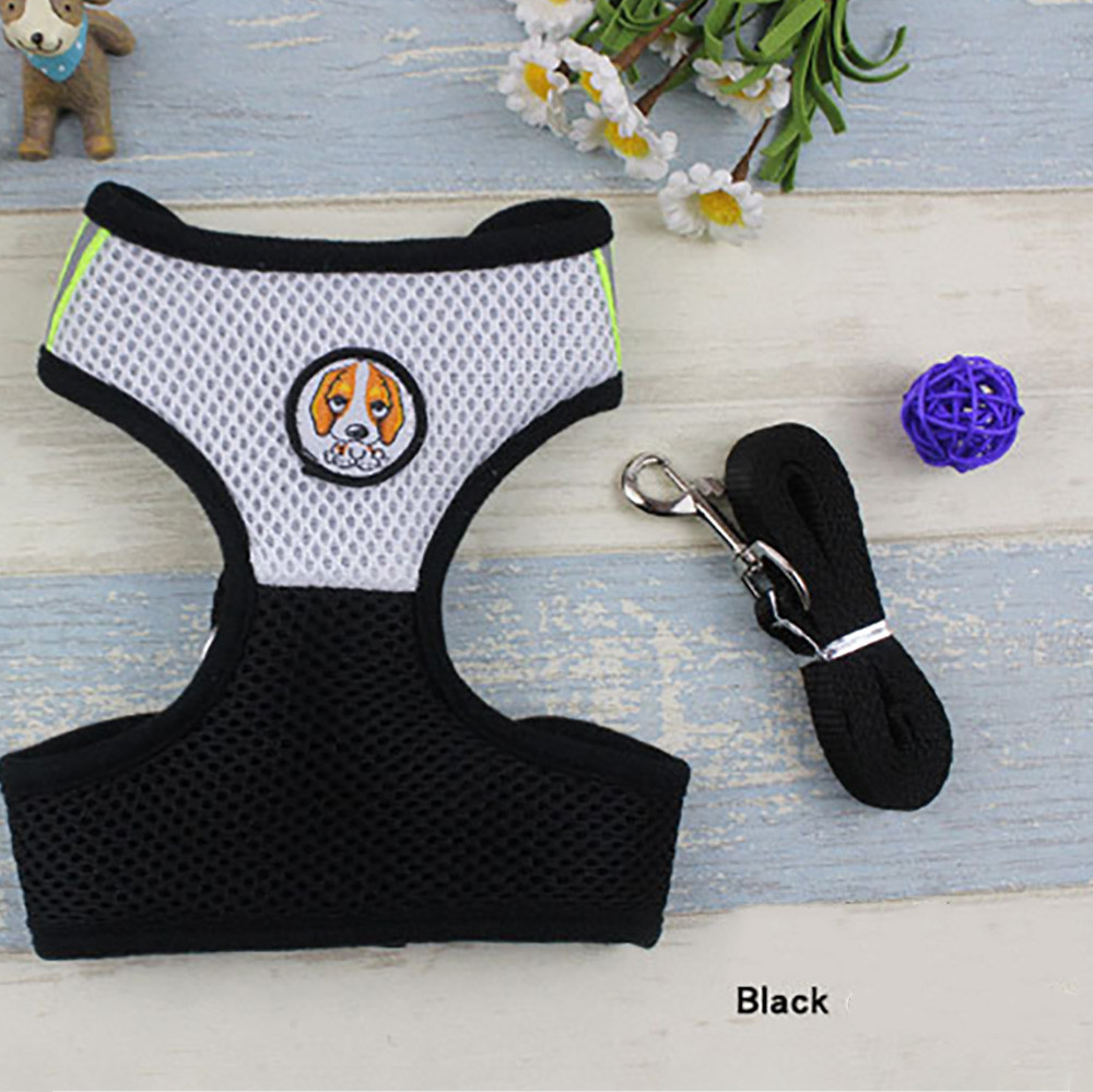 Pet Cat Dog Harness With Leash Adjustable Chest Strap Vest Rope Mesh Cloth Lead Leashes For Small Large Dogs S M L Dropship F531