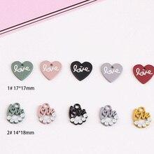 Фотография 10pcs/lot Jewelry Findings Pendant Necklace Bracelet LOVE Heart Shape Earrings Charms Pendant Jewelry Accessories