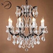 Candelabros de cristal grandes Retro Vintage para Loft, lámpara colgante moderno con brillo, iluminación LED E14 de 110V y 220V para cocina, sala de estar y dormitorio