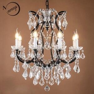 Image 1 - Loft Retro Vintage Big Crystal Chandeliers Lustre Modern Hanging Lamp E14 LED 110V 220V Lighting For Kitchen Living Room Bedroom