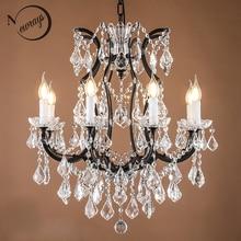 Loft retro vintage grande lustres de cristal lustre moderno lâmpada pendurada e14 led 110 v 220 v iluminação para cozinha sala estar quarto