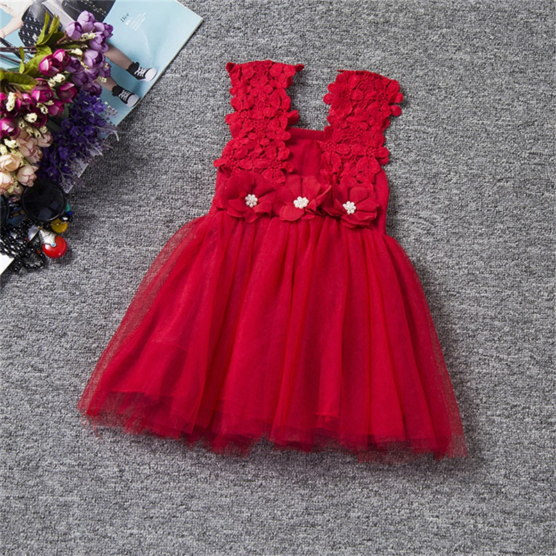 Flower Baby Girls Princess Dress Girl Dresses Summer Sundress Children Clothing School Toddler Kids Girl Dress for Girls Clothes 2017 new summer clothes for girls lace dress baby princess dress white short sleeved hollow dresses children s clothing girl