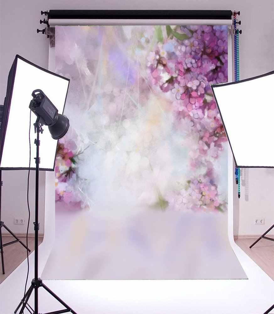 التصوير خلفية المائية مجردة اللوحة الربيع الوردي المشمش شجرة ازهر زهرة طمس خوخه