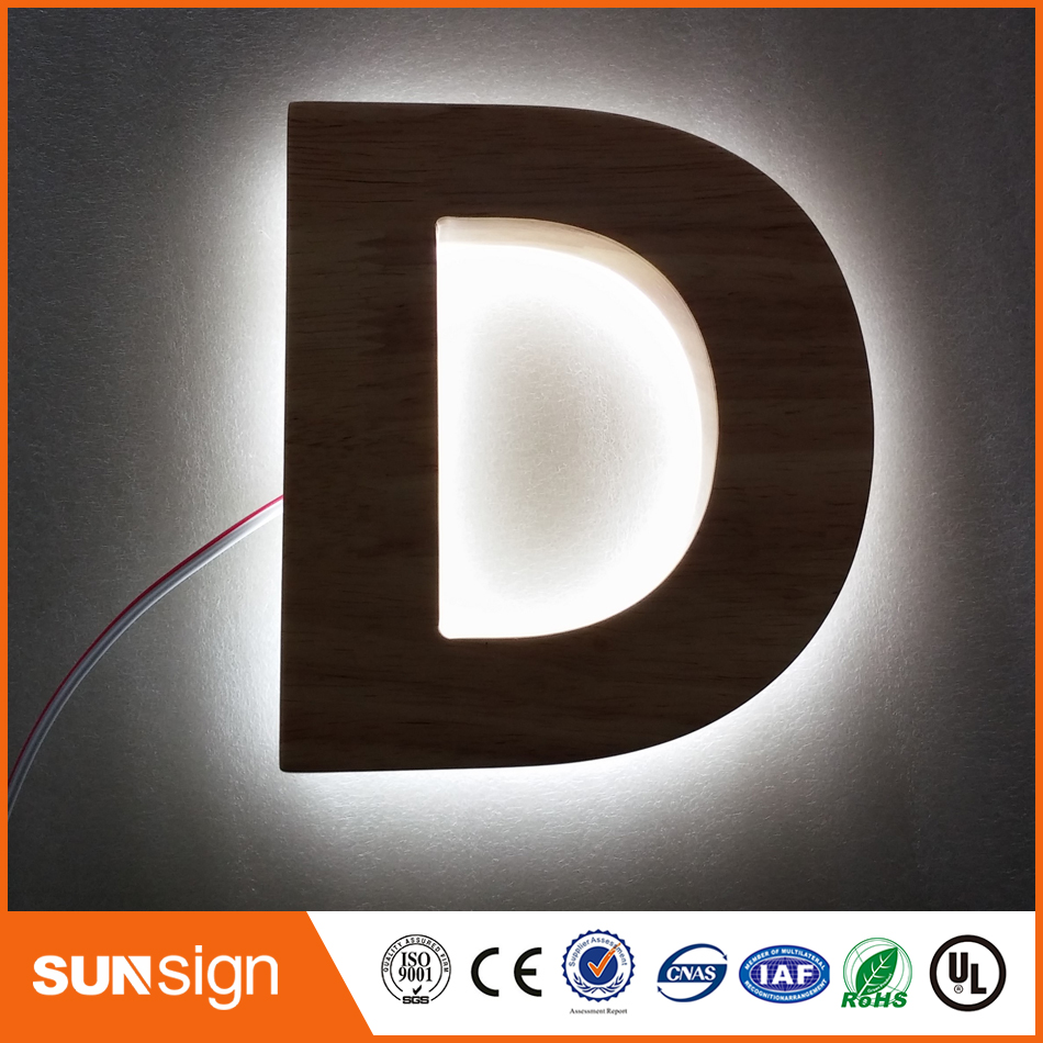 3D Halo Backlit Channel Letter 3d Led Letter Sign
