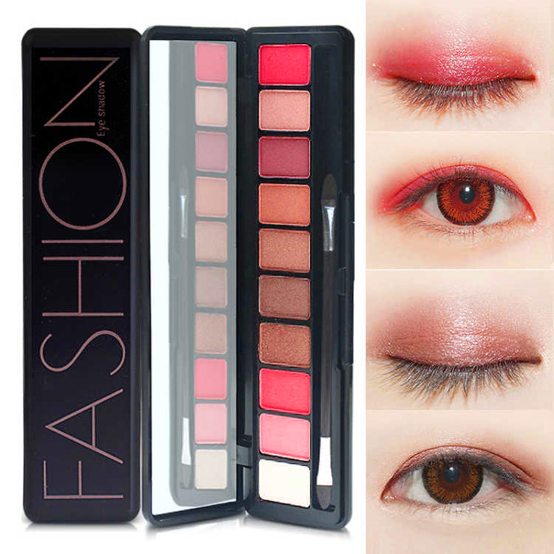 Professional 10 Colors Makeup Eye Shadow Eyeshadow Palette Shimmer Matte Eye Shadow Cosmetics Beauty New Beauty & Health