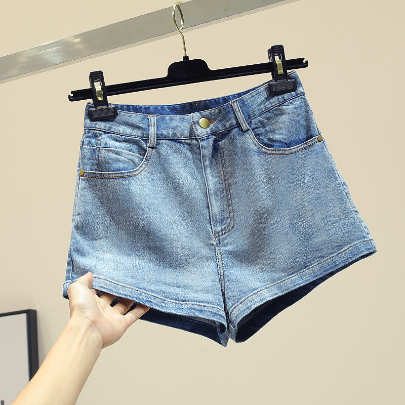 Taille À 2019 Haute Chic Printemps Nouvelle Short Femme Bleu En Courts Jean Larges Coréenne Dentelle Montré Mince Jambes Jeans Femmes Papillon Shorts Y8YrqS