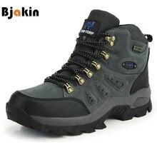 Bjakin Wasserdichte Mens Wandern Schuhe Herbst Winter Klettern Stiefel High Top Trekking Jagd Schuhe Trainer Gummi Unisex