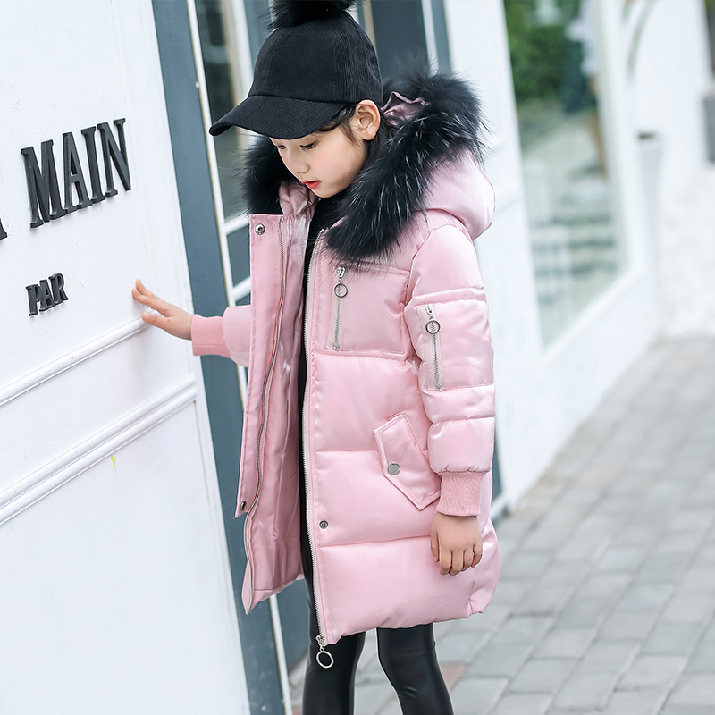 New 2018 Fashion Girl Winter Jackets Children Coats Warm Baby Thick Down Cotton-padded Kids Outerwears for Teenage 3-12Y Coat new 2017 men winter black jacket parka warm coat with hood mens cotton padded jackets coats jaqueta masculina plus size nswt015
