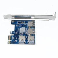 PCIE PCI E PCI Express Riser Card 1x To 16x 1 To 4 USB 3 0