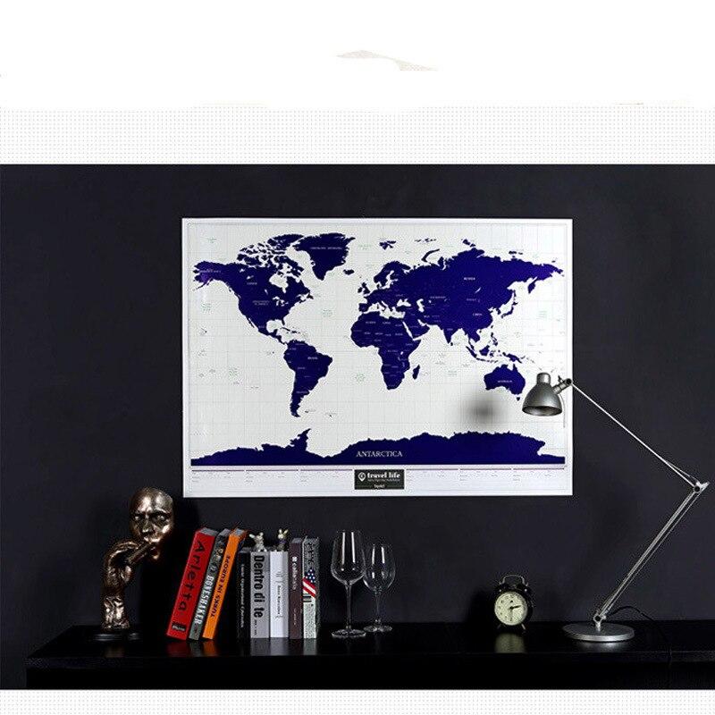 Carte lumineuse de luxe à gratter 1 pièce carte du monde à gratter voyage à gratter cartes avec Starlight world carte murale à gratter