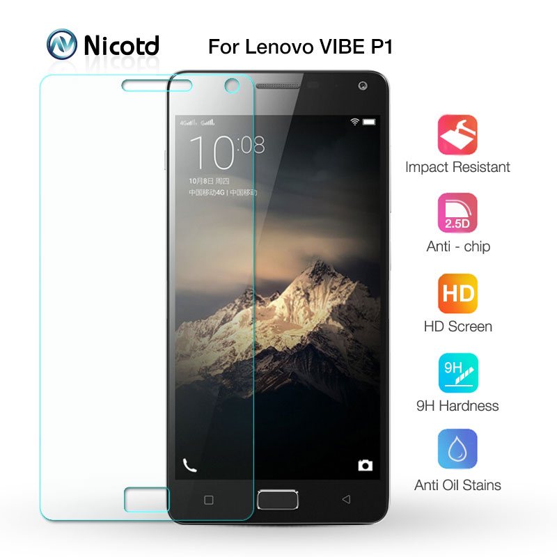 Nicotd 9H Explosion-proof Tempered Glass Screen Protector Protective Film For Lenovo VIBE P1 P 1 P1a42 P1c72 P1c58 Dual Sim Lte