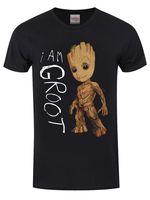 Guardians Of The Galaxy I Am Groot Men S Black T Shirt T Shirts