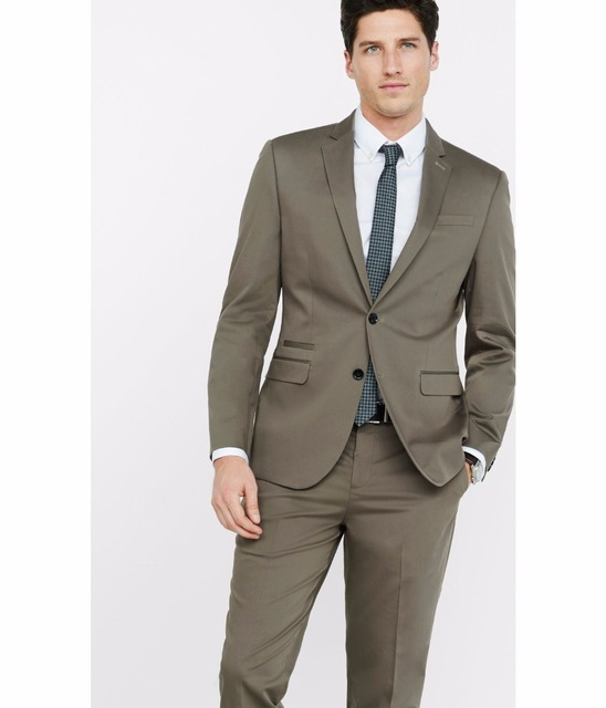 2017 Latest Coat Pant Designs Grey Wedding Suits for Men Style Suits ...