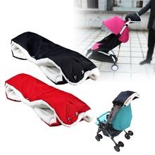 Baby Stroller Pram Accessory Winter Warmer Gloves Pushchair Hand Muff Waterproof Baby Carriage Fur Flee Gloves Cart Gloves Black
