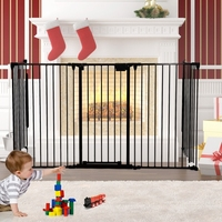 Fireplace Fence Baby Safety Fence Hearth Gate BBQ Metal Fire Gate Pet Dog Cat Play Yard Christmas Tree Fence Fireguard US Stock