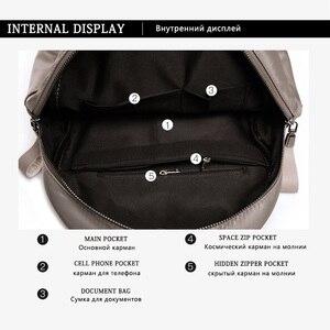 Image 5 - Женский водонепроницаемый рюкзак Mochilas mujer, повседневный рюкзак из ткани Оксфорд для путешествий, 2019