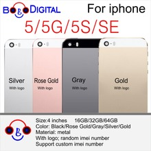 For Apple iPhone 5 5G 5S 5C SE Metal Back Cover Cases Telephone Housing Battery Door