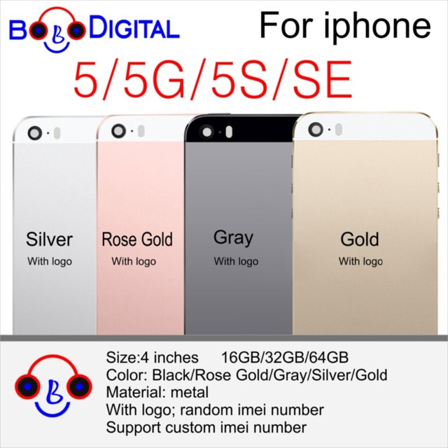 b132db9ebf For Apple iPhone 5 5G 5S 5C SE Metal Back Cover Cases Telephone Housing  Battery Door For Apple iPhone 5 5G 5S SE Back Housing