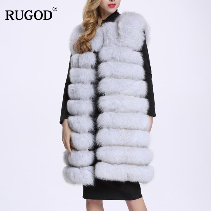 Nieve Fur Faux blanco azul gris Sin Mangas Plata Vestir