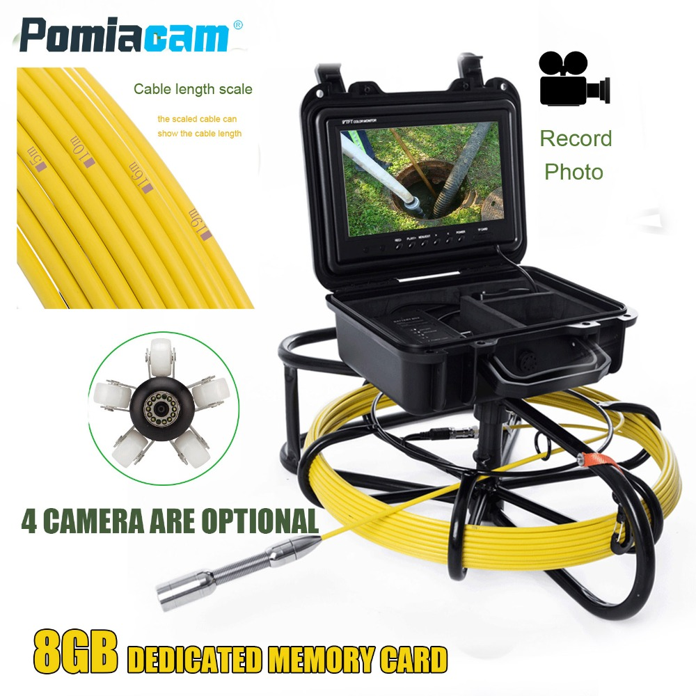 WP9600 20m 65FT Cable PIPE Drain & Sewer Inspection Camera sewer pipe video Inspection Camera 9inch display video recording wp9600a 50m pipeline drain sewer inspection support video recording 1200tvl camera sewer pipe video inspection camera system