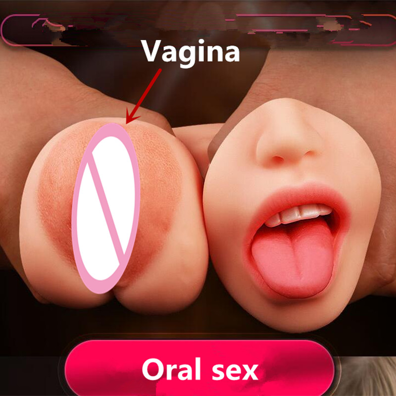 Double-end With Vagina and Oral <font><b>Sex</b></font> Pussy Male Masturbator <font><b>Sex</b></font> <font><b>Toy</b></font> <font><b>For</b></font> Man <font><b>Adult</b></font> Products <font><b>Sex</b></font> Shop image