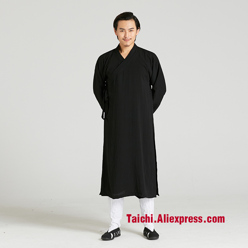 Martial Art Tai Chi  Taoist Long Gown Robe Road   Linen Robe Men And Women Clothing