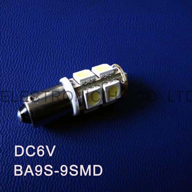 High quality 6.3V 6V BA9S Led Warning Signal,Indicating Lamp,Pilot lamp,Instrument Light,pinballs Bulb free shipping 100pcs/lot