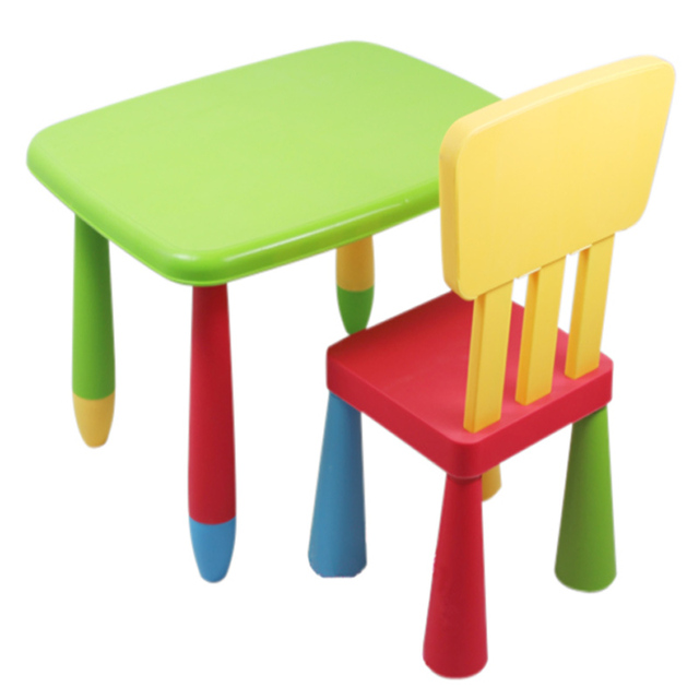 A Childrenu0027s Nursery Furniture Assembled Plastic Table Long Desk Study  Tables And Chairs