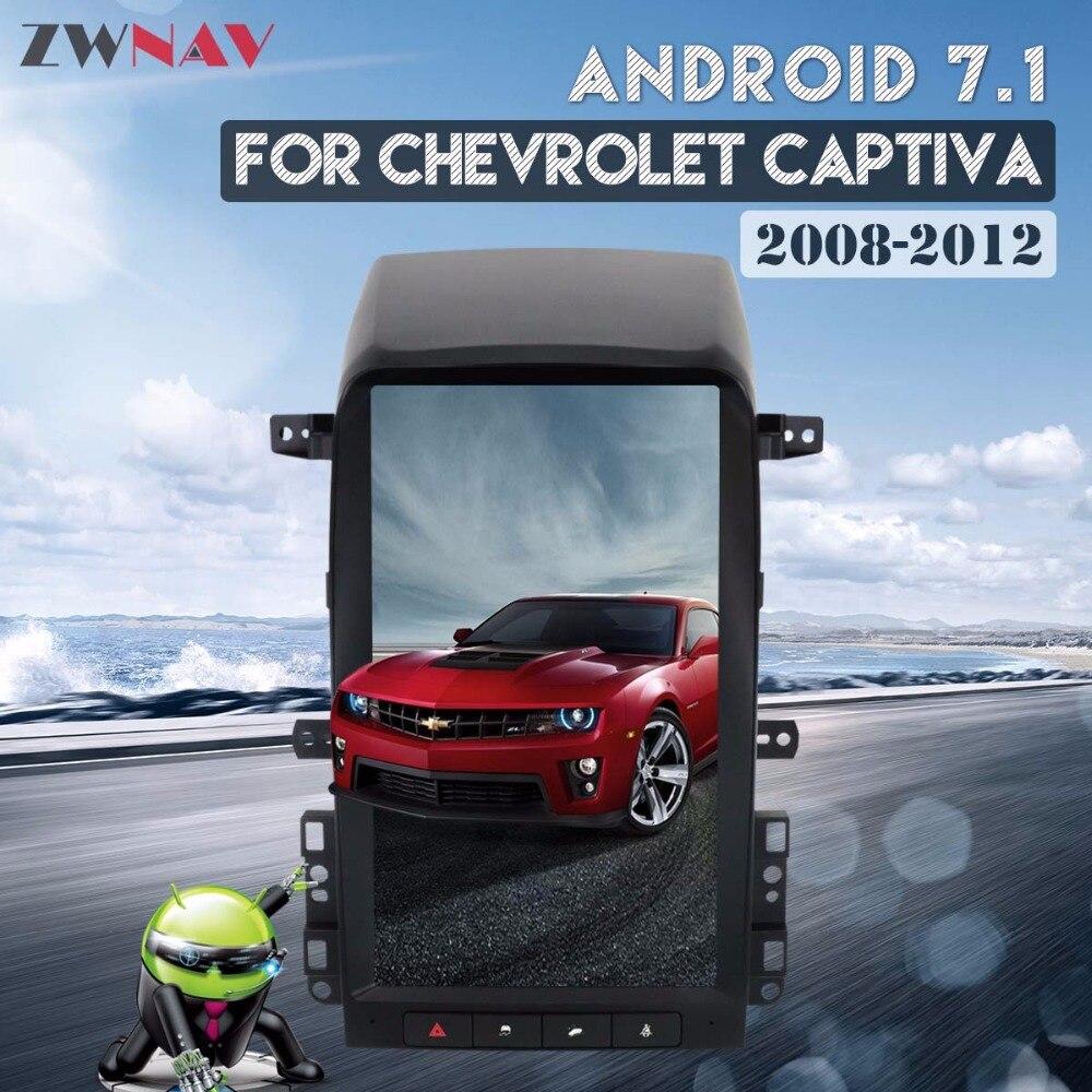 Tesla style IPS Écran 13.8 Android 7.1 Autoradio GPS Navigation Pour Chevrolet Captiva 2007 2008 2009 2010 2011 2012 Lecteur DVD