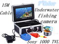 "HD SONY CCD 1000 TVL 7"" TFT Color LCD Underwater Camera With 15M Cable Fishing Camera CCTV Camera Video Camera Aluminum Case"
