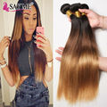 Brazilian Virgin Hair Ombre Brazilian Straight Hair 8A Brazilian Silky Straight Hair Weave Cheap Straight Human Hair Bundles Lot