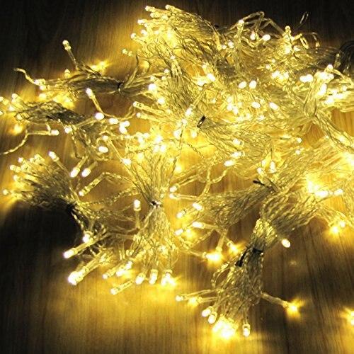 Рождество украшения 6*3 м свисать 600 под занавес Строка сосулька 220 В на новый год сад Рождество свет занавес - 5