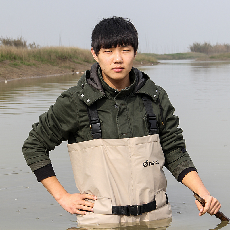 Breathable fishing waders for men, stocking foot chest waders, pesca waders цены